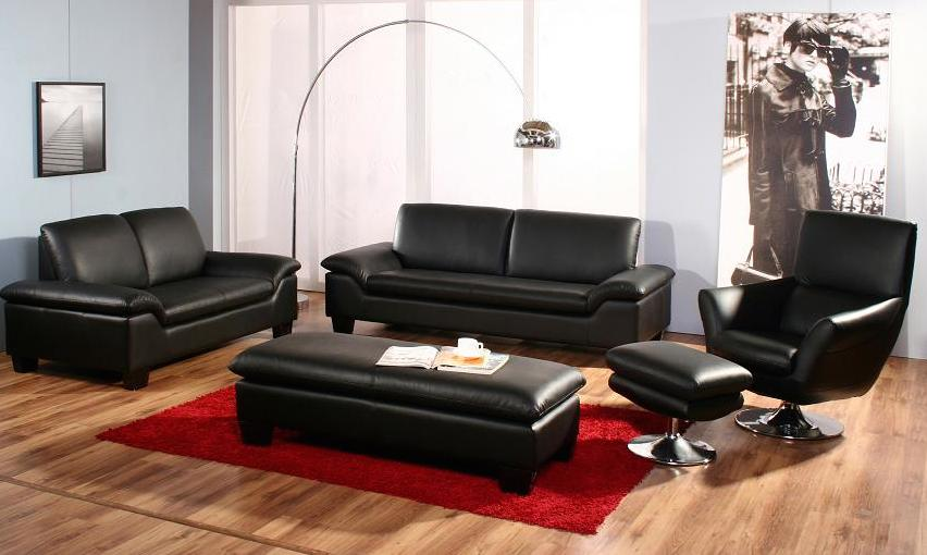comment d corer son salon avec un salon en cuir design. Black Bedroom Furniture Sets. Home Design Ideas